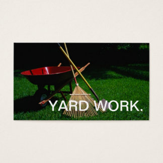 YARD WORK BUSINESS CARD