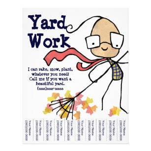yard work flyers zazzle ca