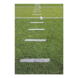 Yardlines on Football Field Poster