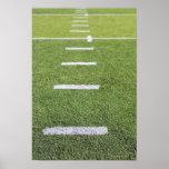 Yardlines sur le terrain de football affiches