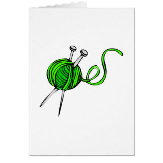 Yarn and Knitting Needles Card