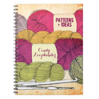 Yarn balls hanks crochet hooks pattern notebook