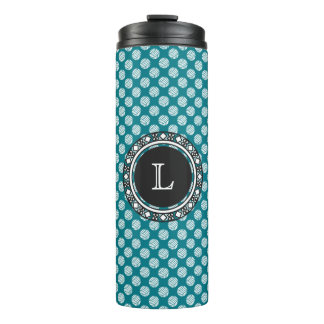 Yarn Balls Seamless Pattern w/ Monogram • Crafts Thermal Tumbler