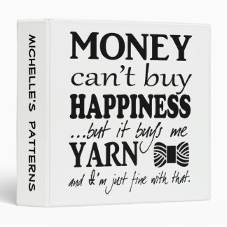 Yarn is Happiness Crafts Pattern Organizing Binder