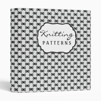 Yarn Knitting Crochet Pattern Vinyl Binder