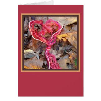 Yarn Knot Heart Card