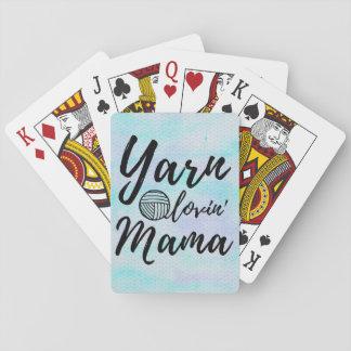 Yarn Loving Mama • Knit Crochet Crafts Playing Cards