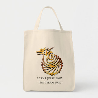 Yarn Quest The Steam Age Tote Bag