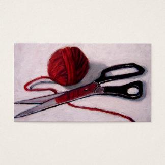 YARN, SCISSORS: ART: BUSINESS CARD