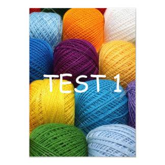 Yarn test card