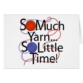 Yarn Time Card