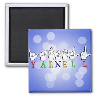 YARNELL FINGERSPELLED ASL NAME SIGN SQUARE MAGNET