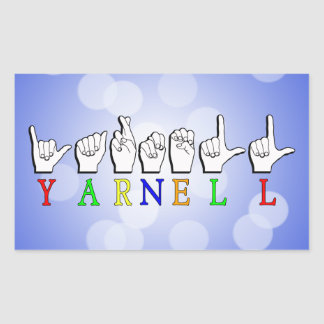 YARNELL FINGERSPELLED ASL NAME SIGN STICKER