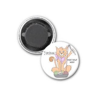 Yarnivore Cat Magnet