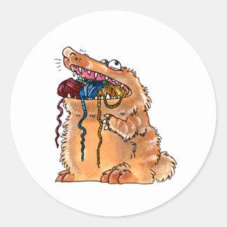 yarnmonster round sticker