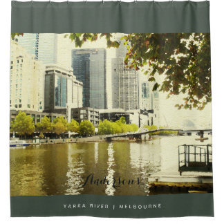 YARRA RIVER MELBOURNE PAINTING LEATHER MONOGRAM