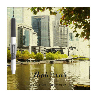 YARRA RIVER MELBOURNE PAINTING LEATHER MONOGRAM Dry-Erase WHITEBOARDS
