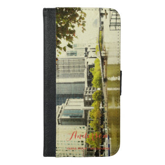 YARRA RIVER MELBOURNE PAINTING LEATHER MONOGRAM iPhone 6/6S PLUS WALLET CASE