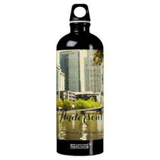 YARRA RIVER MELBOURNE PAINTING LEATHER MONOGRAM WATER BOTTLE