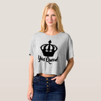 Yas Queen!  Crown T Shirt Crop Top