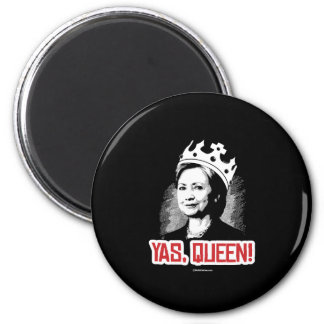 Yas, Queen - Hillary Party Animal - copy Politiclo 2 Inch Round Magnet