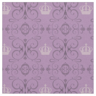 Yas Queen! Purple Crown Pattern Fabric