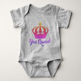Yas Queen!  Rainbow color Baby style Baby Bodysuit