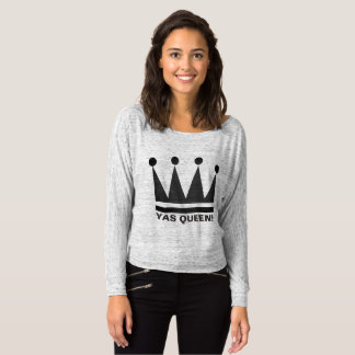 Yas Queen!  T Shirt Crown Design