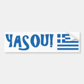 YASOU! Greek Flag Bumper Sticker