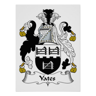Yates Family Crest Poster