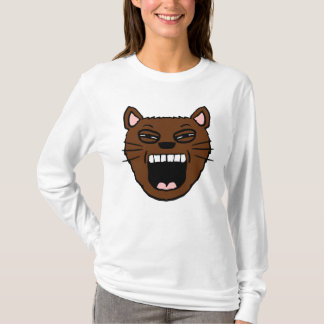 Yawning Cartoon cat Shirt