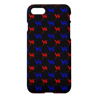 Yawning Cat Abstract iPhone 7 Glossy Finish Case