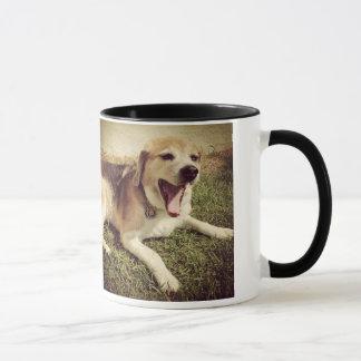 Yawning dog mug