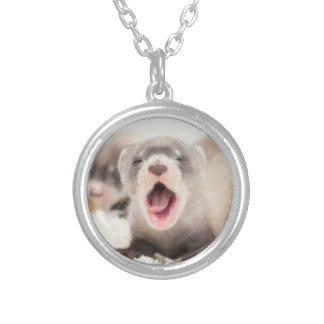 Yawning Ferret Necklace