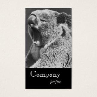 Yawning Koala Business Card