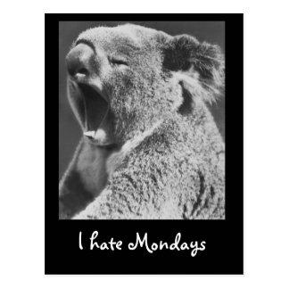 Yawning Koala Postcard