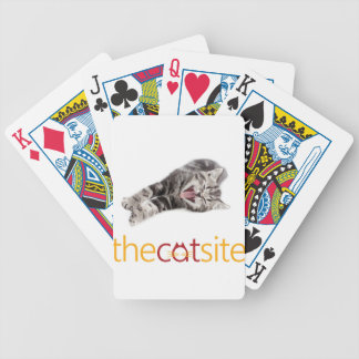 Yawning or Laughing cat Bicycle Playing Cards
