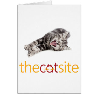 Yawning or Laughing cat Card