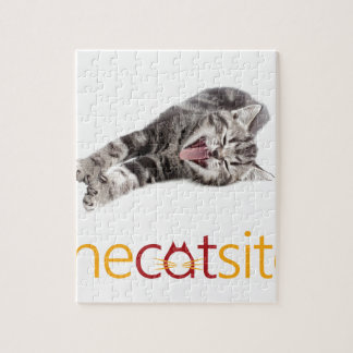Yawning or Laughing cat Jigsaw Puzzle