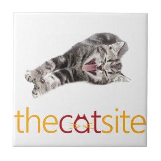 Yawning or Laughing cat Tile