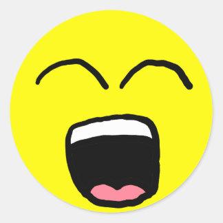 Yawning Smiley Sticker