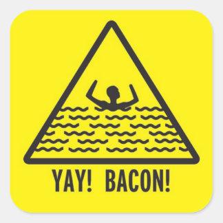 Yay Bacon Square Sticker