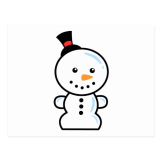 Yay For Color Xmas Character - Snowman Postcard