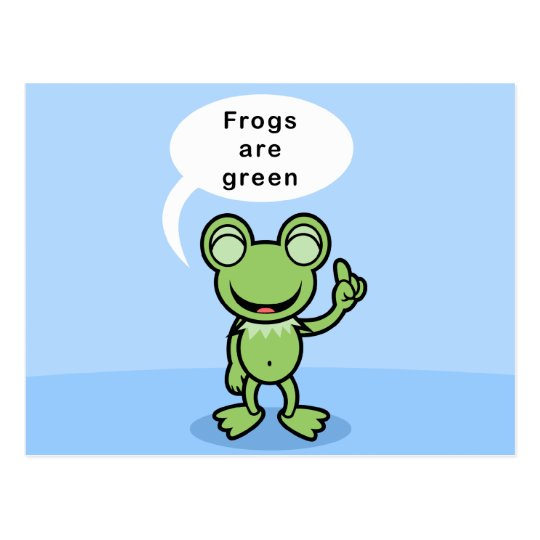 Yay For Colour Frog Character Postcard