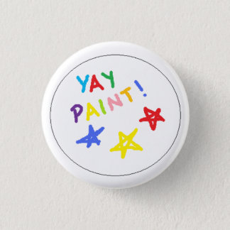 yay paint! 1 inch round button