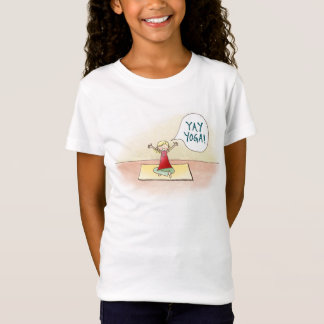 """Yay Yoga!"" Girls' Fitted Bella  Babydoll Shirt"