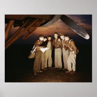 YB-17 Bomber Crew, 1942 Poster