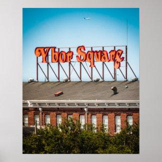 Ybor Square Sign Poster