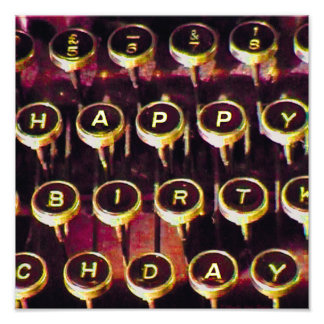 Ye Olde Happy Birthday Typewriter Photo Art