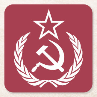 Ye Ole Commie Square Paper Coaster